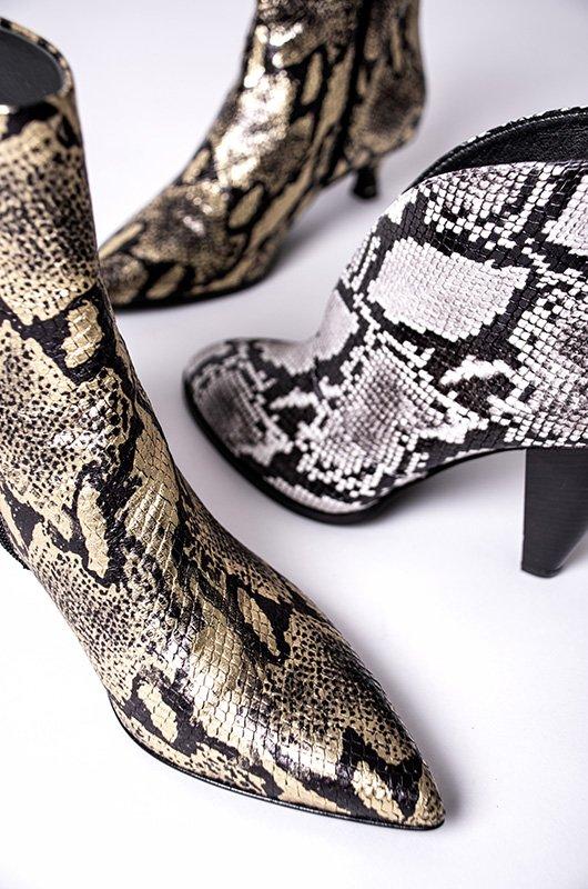 Stivaletto Modo Pitonato Women Shoes Ankle boots