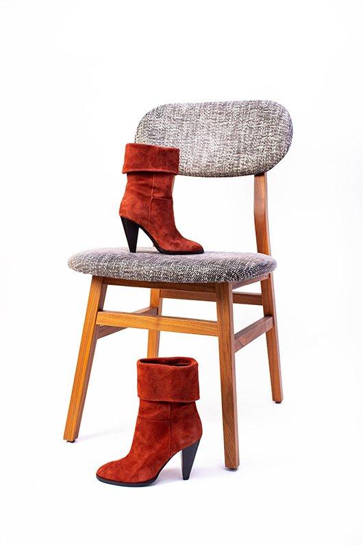 Ankle Boots Modo, Scarpe Donna Stivaletti rossi
